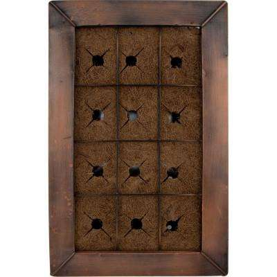 15 in. W x 23 in. H Live Green AquaSav Coco Vertical Wall Planter with Copper Finish Frame