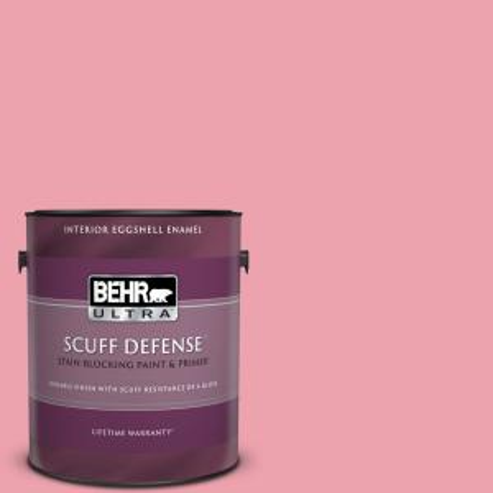 Behr Ultra 1 Gal P150 3 Pinque Extra Durable Eggshell Enamel Interior Paint Primer 275001 The Home Depot