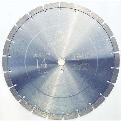 14 in. 22-Teeth High Segmented Diamond Saw Blade for Dry or Wet Cutting Concrete Stone Brick and Masonry