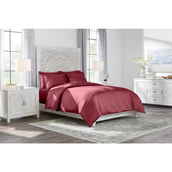 Home Decorators Collection 400 Thread Count Performance Cotton Sateen 3-Piece
