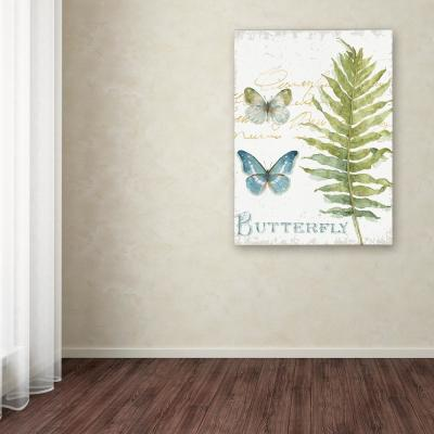 "19 in. x 14 in. ""My Greenhouse Botanical IV"" by Lisa Audit Printed Canvas Wall Art"
