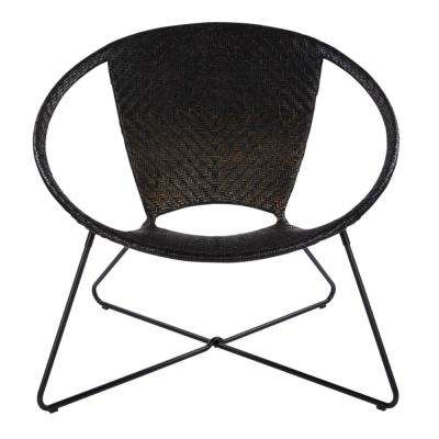 Navarre Black Lounge Chair in Black Fade withFrame