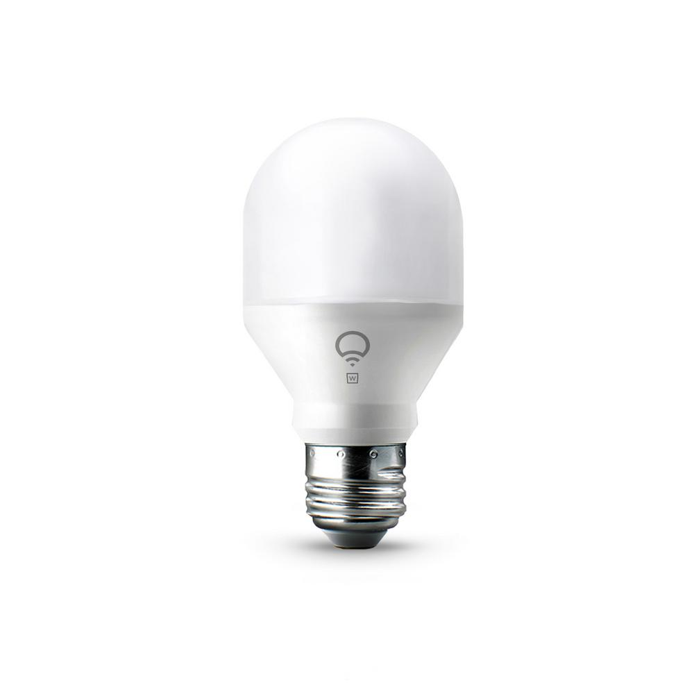 LIFX 60W Equivalent Mini White A19 Dimmable Wi-Fi Smart Connected LED Light Bulb
