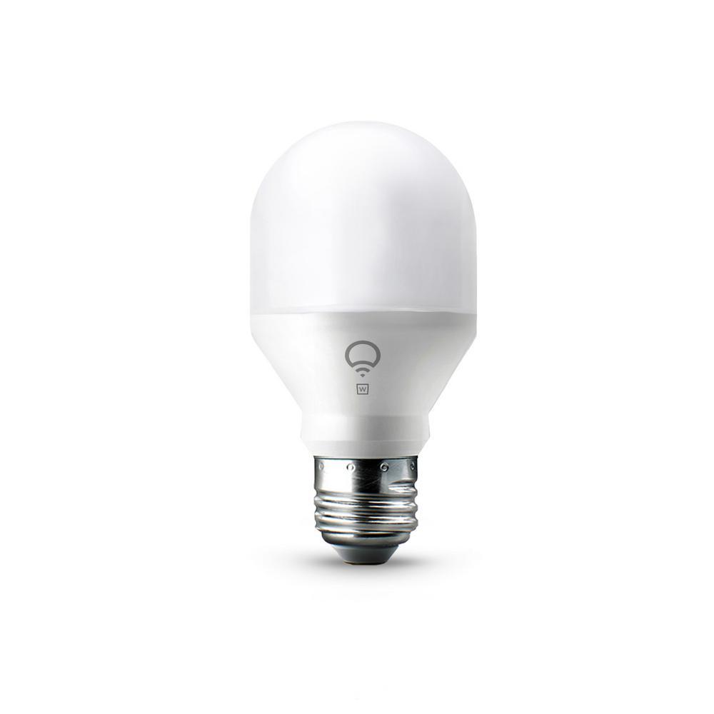 60W Equivalent Mini White A19 Dimmable Wi-Fi Smart LED Light Bulb