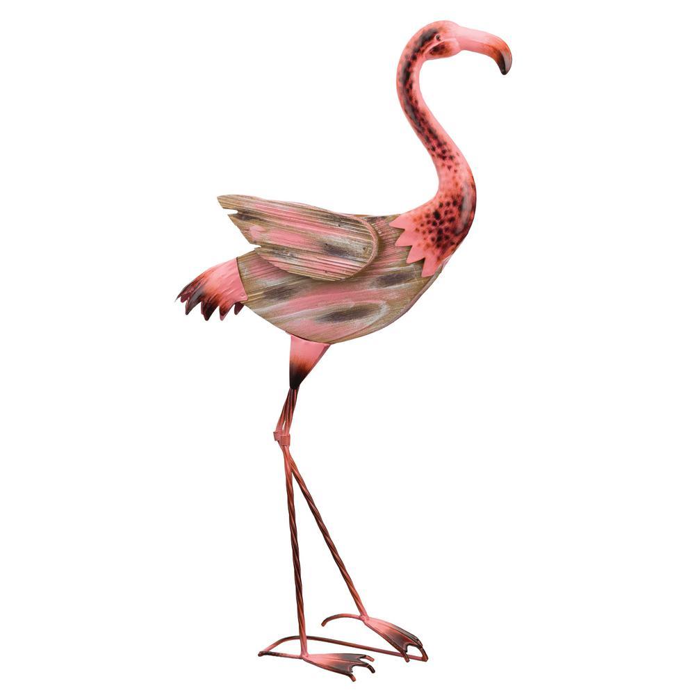 Large Rustic Tropical Flamingo- Classic Pose