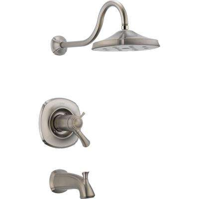 Addison TempAssure 17T Series 1-Handle Tub and Shower Faucet Trim Kit Only in Stainless (Valve Not Included)