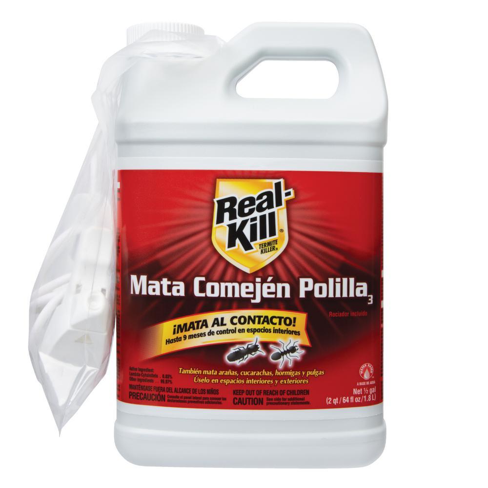 Real Kill 64 Oz Ready To Spray Termite Killer Hg 50013 6 The Home Depot