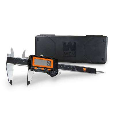 6.1 in. Electronic Stainless-Steel Water-Resistant Digital Caliper with LCD Readout and Storage Case IP54 Rated