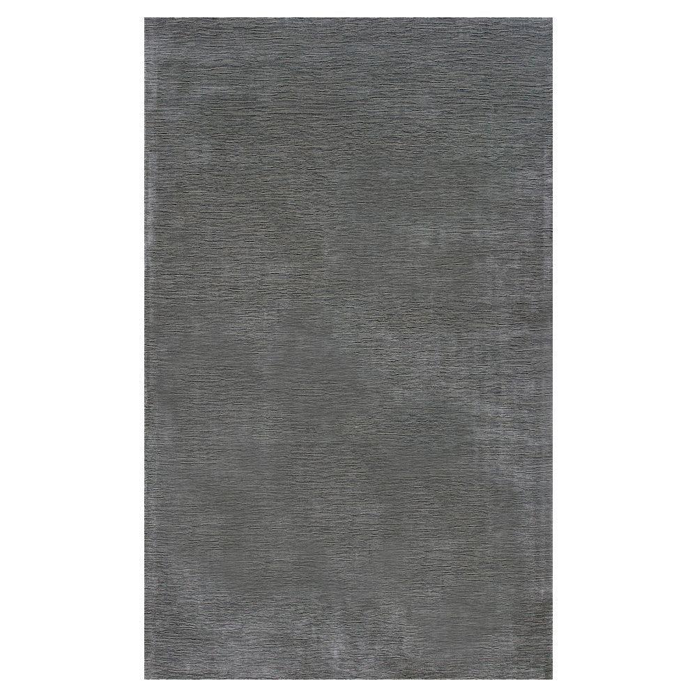 Kas Rugs Palace Silk Steel Grey 3 ft. 3 in. x 5 ft. 3 in. Area Rug