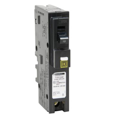 Homeline 15 Amp Single-Pole Plug-On Neutral Combination Arc Fault Circuit Breaker