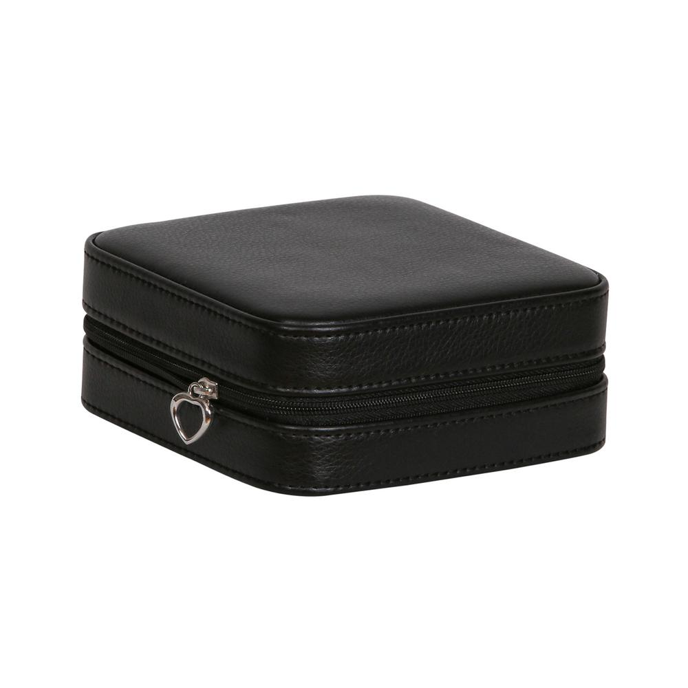 Mele Dana Black Faux Leather Jewelry Box0067162 The Home Depot