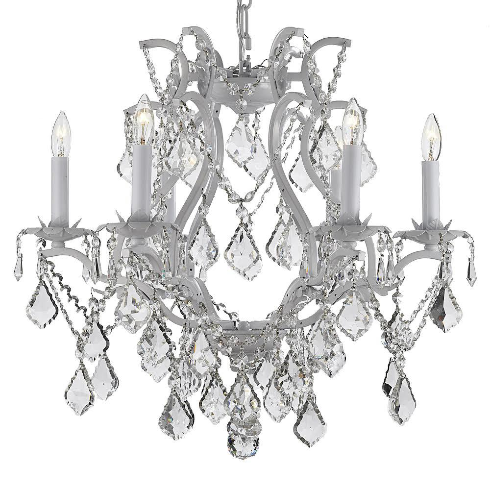 White plug in chandeliers lighting the home depot versailles 6 light wrought iron and crystal white plug in chandelier mozeypictures Gallery