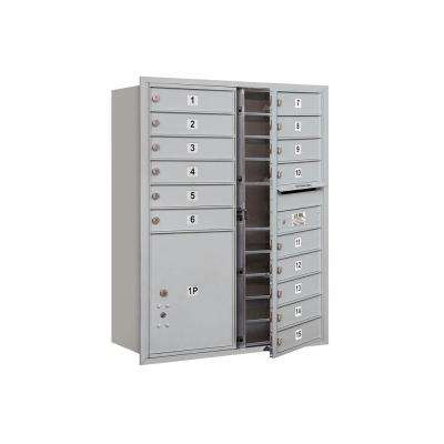 3700 Series 41 in. 11 Door High Unit Aluminum Private Front Loading 4C Horizontal Mailbox with 15 MB1 Doors/1 PL5