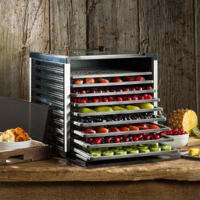 LEM-Mighty Bite 10-Tray Black Food Dehydrator with Temperature Control