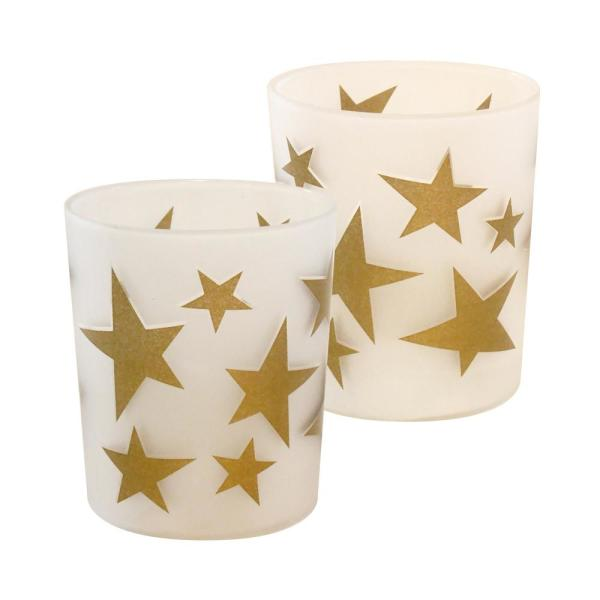 Gold Stars Battery Operated LED Candles (2-Count)