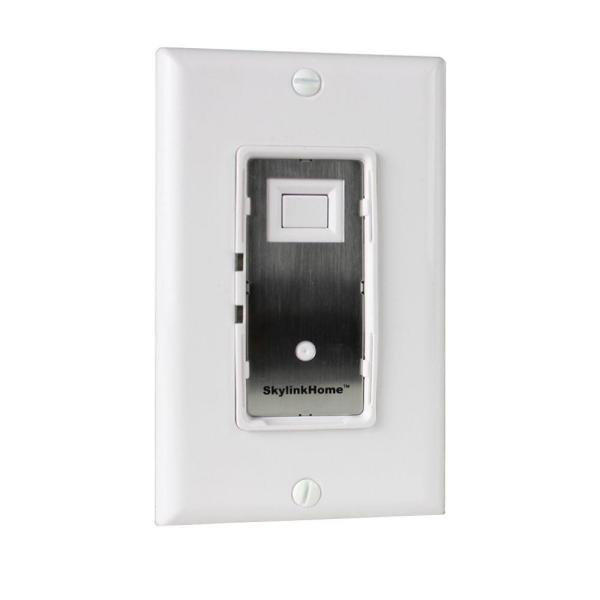 In-Wall On/Off Light Switch Receiver Remote Controllable for Home Automation - White