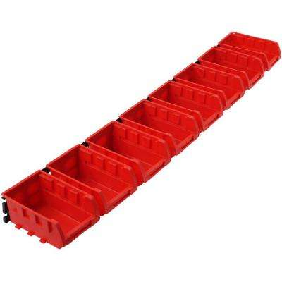8-Compartment Bin Wall Mounted Rack Small Parts Organizer