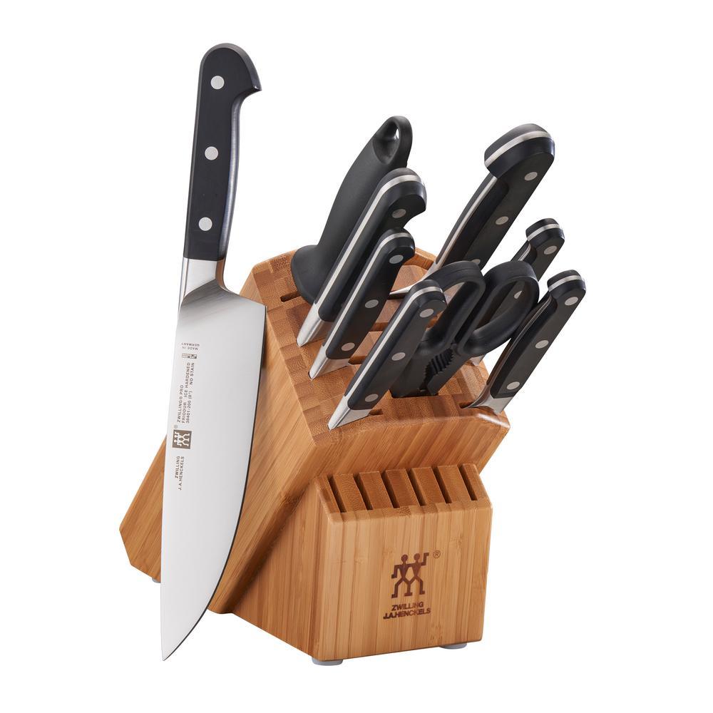 Pro 10-Piece Bamboo Knife Block Set