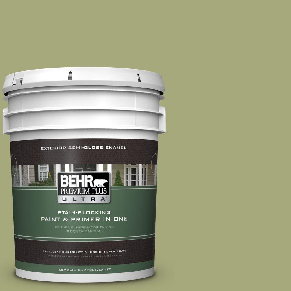 BEHR Premium Plus Ultra 5-gal. #M350-5 Mossy Cavern Semi-Gloss Enamel Exterior Paint