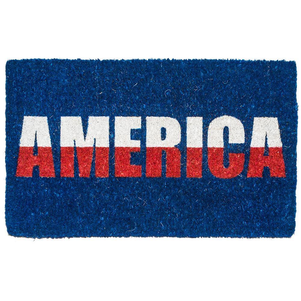 America 18 in. x 30 in. Hand Woven Coconut Fiber Door Mat