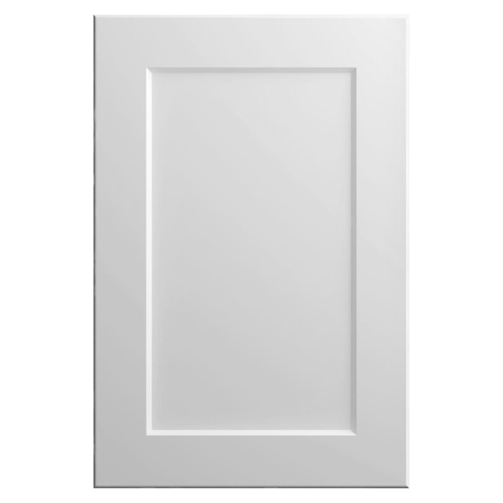Hampton Bay Designer Series 11x15 in. Melvern Cabinet Door Sample in White