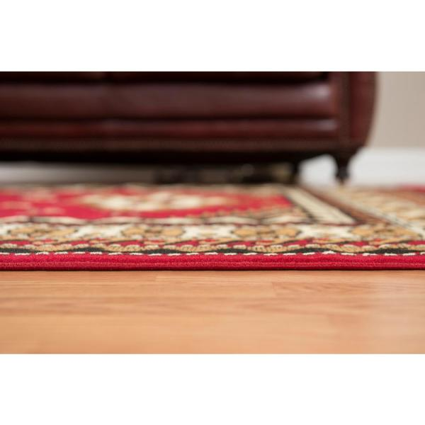 United Weavers Dallas Tres Red 2 Ft X 3 Ft Indoor Area Rug 851 10230 24 The Home Depot