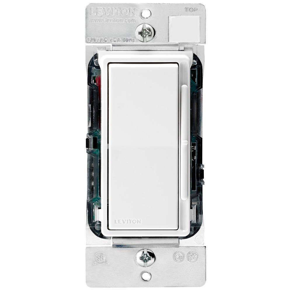 Slide Dimmers Wiring Devices Light Controls The Home Depot Install A Dimmer Switch Diagram Likewise 3 Way Decora Rocker Electronic Low Voltage White Ivory Almond