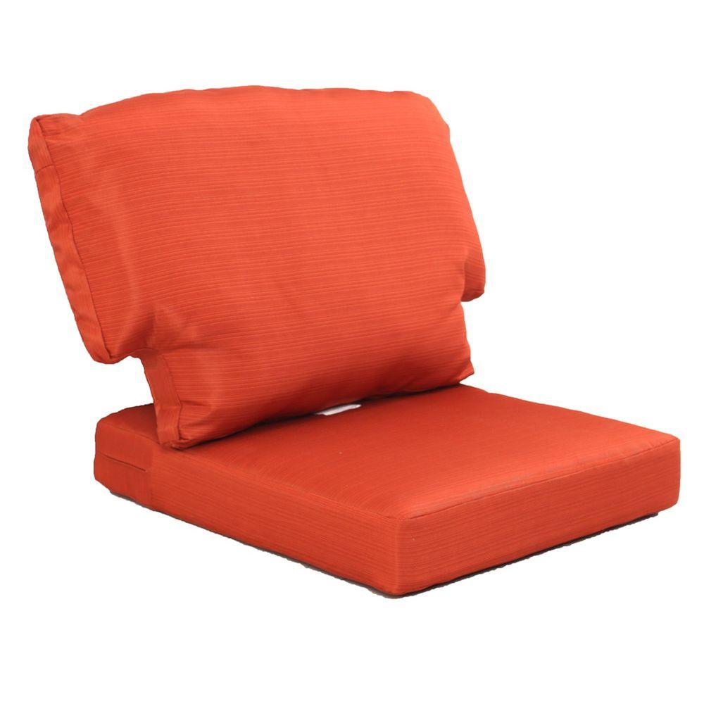 Martha Stewart Living Charlottetown Quarry Red Replacement Outdoor Chair Cushion