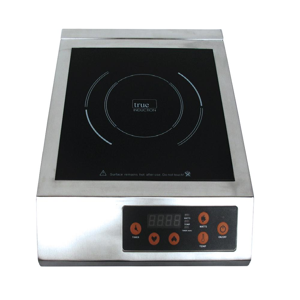 True Induction 13 in. Glass Induction Cooktop in Stainless Steel with 1 Induction Element