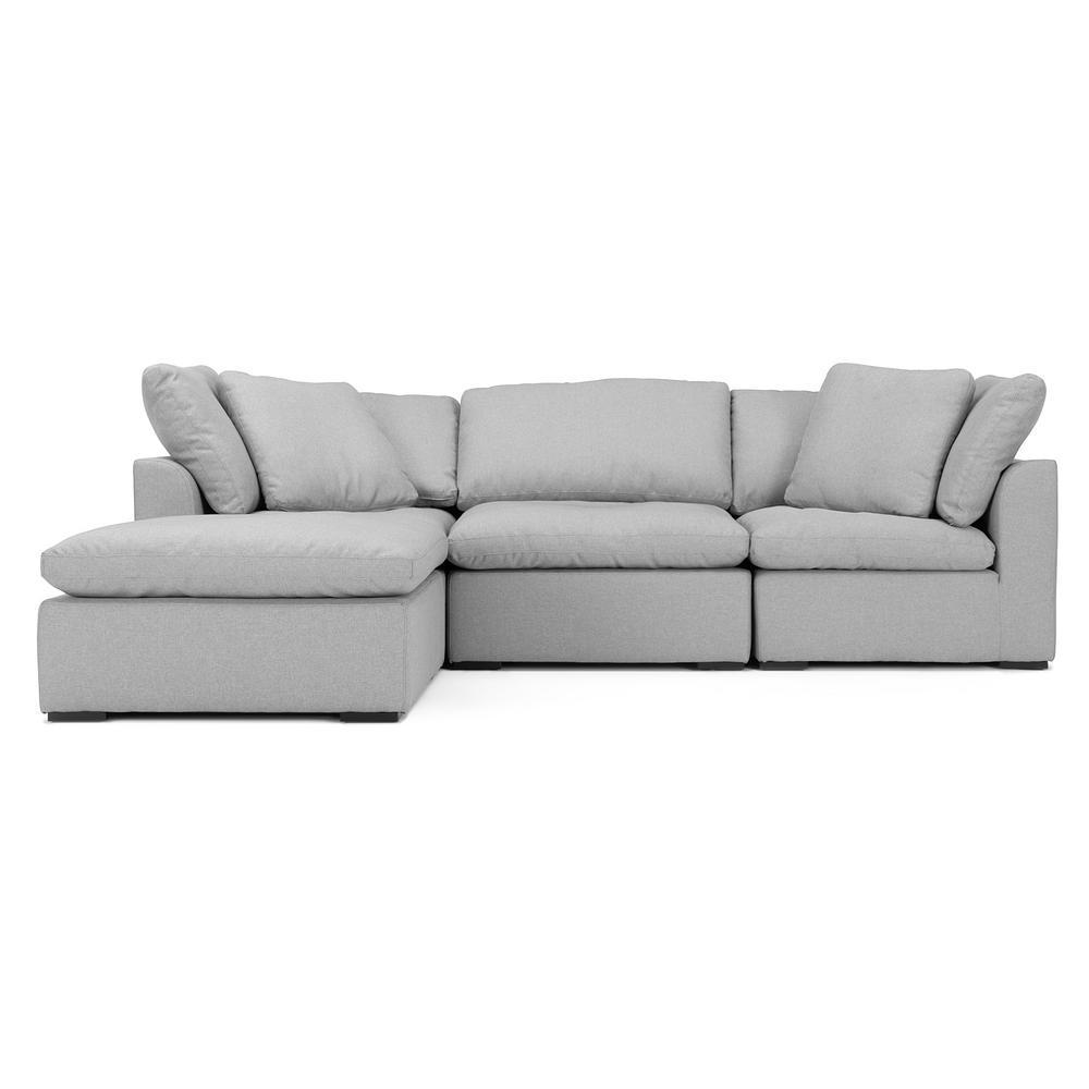 Rst Brands Aria 4 Piece Grey Sofa And