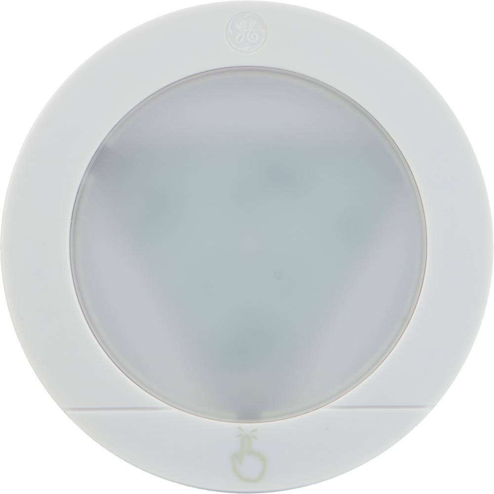 GE Touch Activated White LED Puck Light 2 Pack 25434
