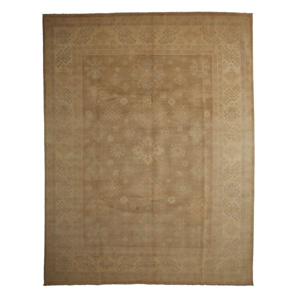 Darya Rugs Oushak Brown 9 ft. 1 in. x 11 ft. 8 in. Indoor Area Rug