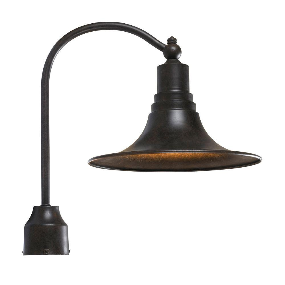 World Imports Dark Sky Kingston Outdoor Collection Bronze Post Light Wi900089 The Home Depot