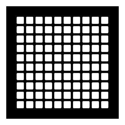 Square Series 10 in. x 10 in. Steel Grille, Black without Mounting Holes