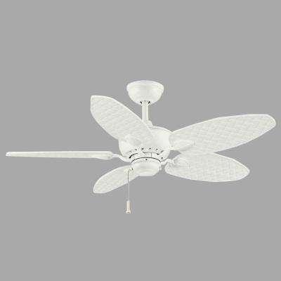 Largo 48 in. Indoor/Outdoor Matte White Outdoor Ceiling Fan