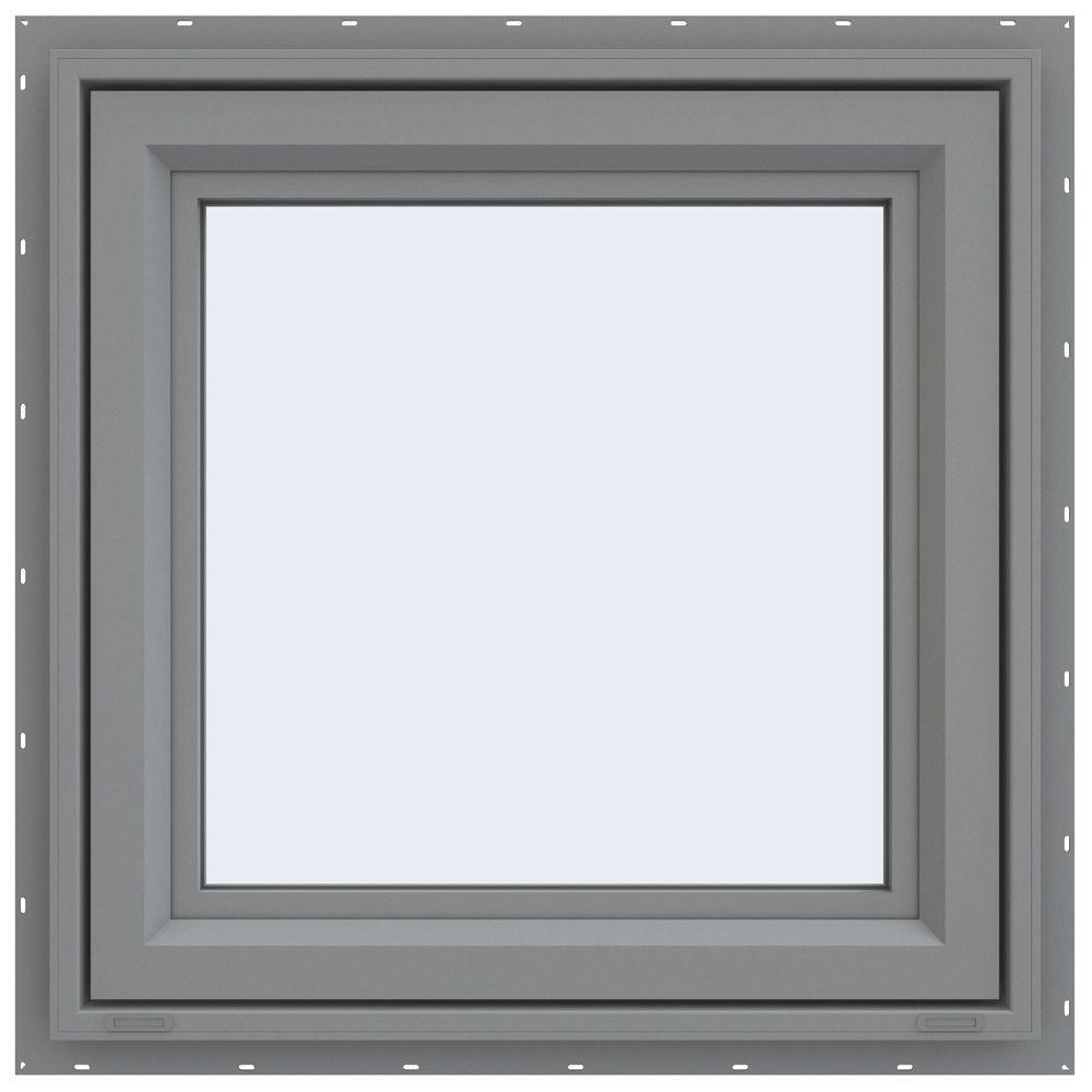 23.5 in. x 23.5 in. V-4500 Series Left-Hand Casement Vinyl Window