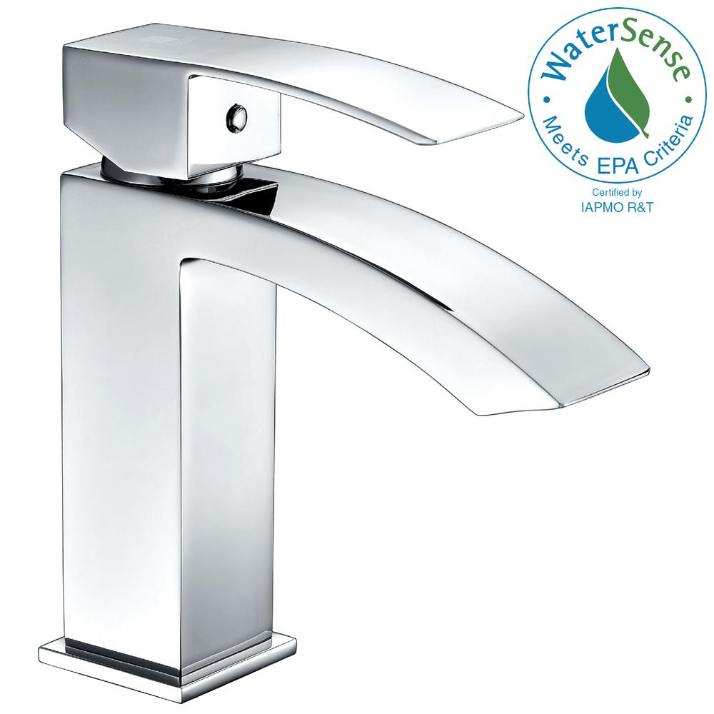Revere Series Single Hole Single-Handle Low-Arc Bathroom Faucet in Polished