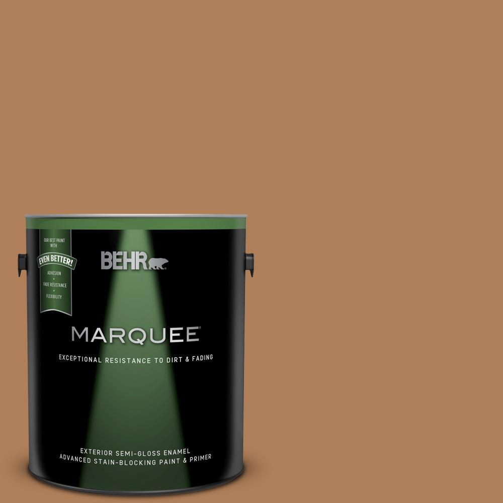 Behr Marquee 1 Gal T14 12 Coronation Semi Gloss Enamel Exterior Paint And Primer In One 545301 The Home Depot