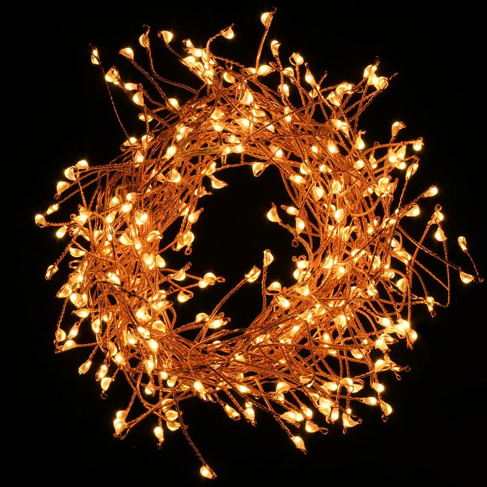 300-Lights LED Copper Electric Firecracker Fairy String Lights