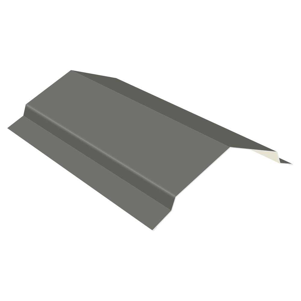 10 ft. Gray 29-Gauge Galvalume Steel RC2 Ridge Cap Flashing