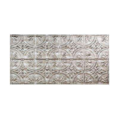 Traditional 2 - 2 ft. x 4 ft. Glue-up Ceiling Tile in Crosshatch Silver