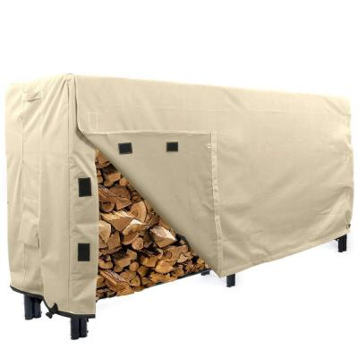 Sahara Series 8 ft. Beige Log Rack  Heavy-Duty Protector Cover