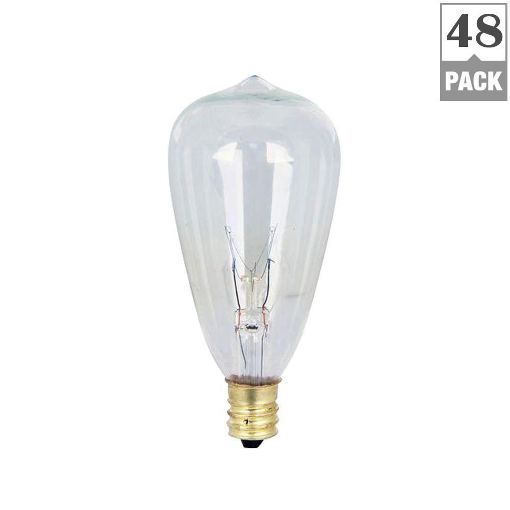 7-Watt Soft White (2200K) ST12 Incandescent Original Vintage Style Light Bulb