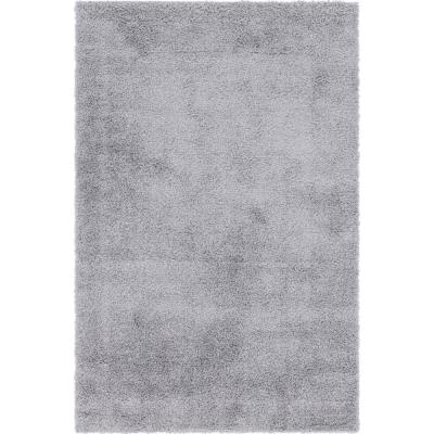 Davos Shag Sterling Gray 6 ft. x 9 ft. Area Rug