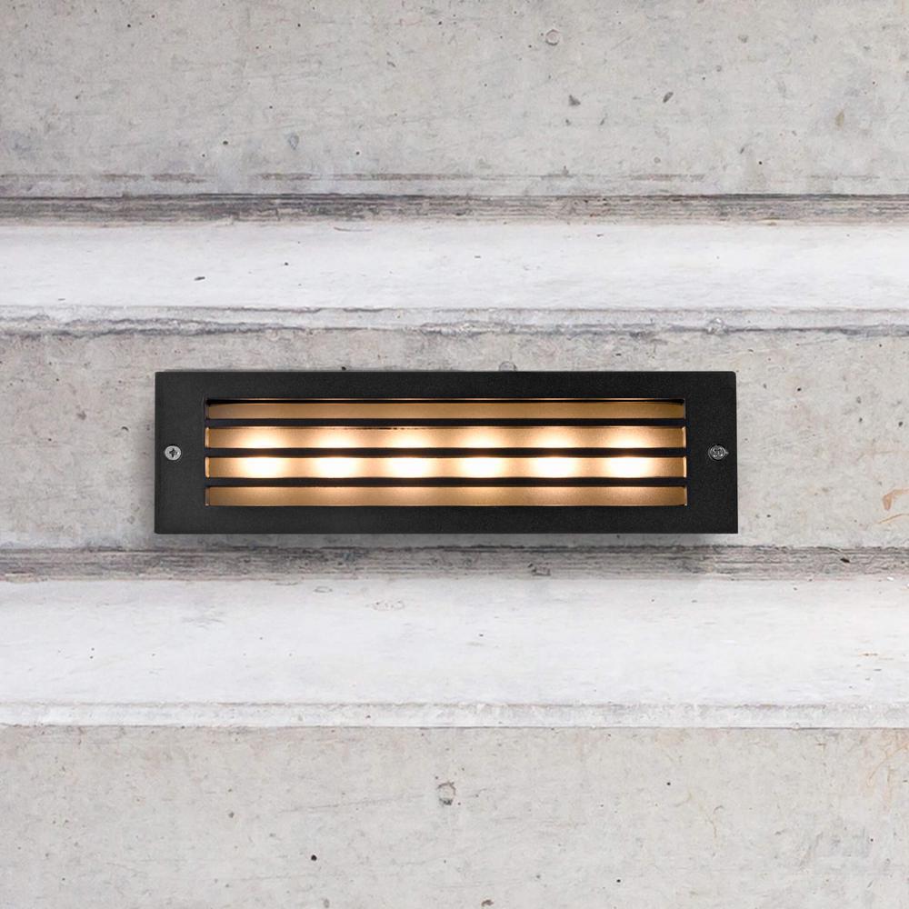 6 Watt Black Outdoor Integrated Led Step Landscape Path Light