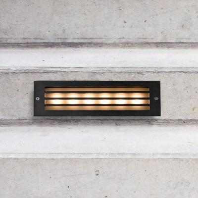 6-Watt Black Outdoor Integrated LED Step Landscape Path Light