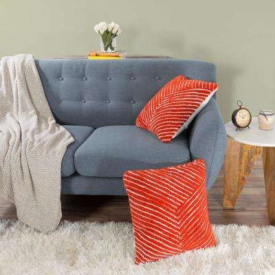 Modern Diagonal Stripe Red Decorative Pillow
