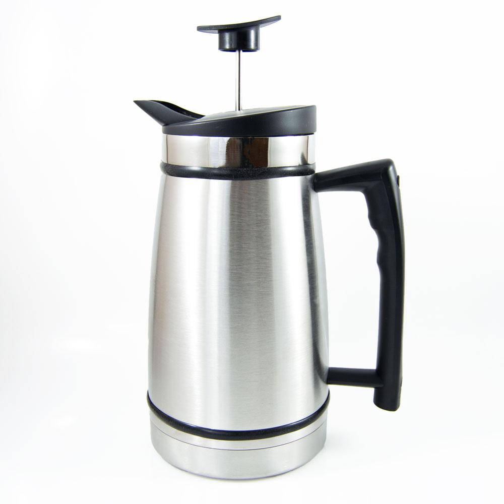 12 Cup French Press In Stainless Steel, Brushed Stainless Steel