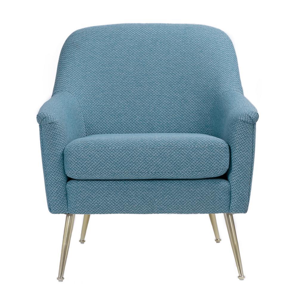 Clara Blue Accent Armchair