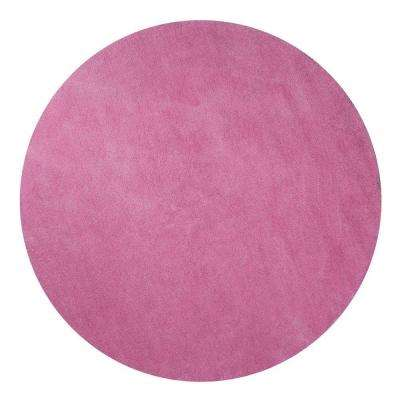 Cozy Shag Hot Pink 8 Ft. X 8 Ft. Round Area Rug